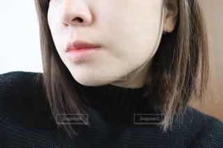 女性のすっぴん肌の写真・画像素材[2730707]
