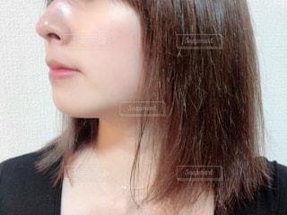 女性のすっぴん肌の写真・画像素材[2807107]