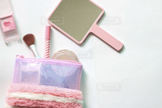 ピンクのコスメグッズ①の写真・画像素材[2080144]