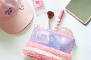 ピンクのコスメグッズ②の写真・画像素材[2086080]