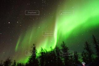 イエローナイフ光のカーテンの写真・画像素材[1816993]
