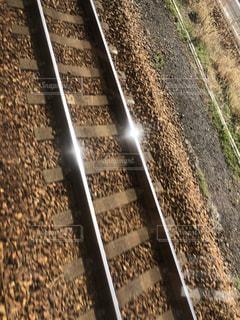 輝く線路の写真・画像素材[1819097]