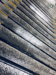 雨の日の階段の写真・画像素材[1837023]