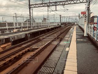 駅の線路の写真・画像素材[1837187]