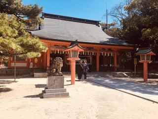 住吉神社の本殿の写真・画像素材[1846080]