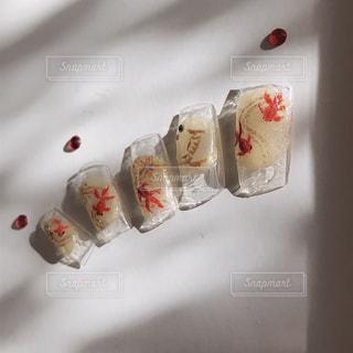 金魚ネイルの写真・画像素材[2186752]