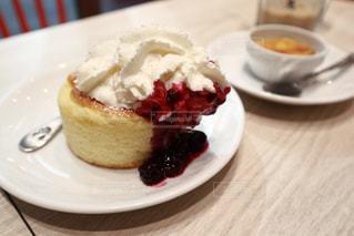 食後のホットケーキの写真・画像素材[1819328]