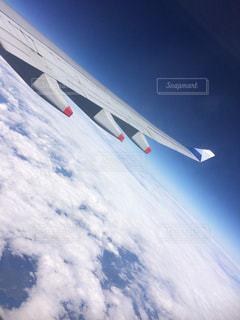機内からみた空の写真・画像素材[1825558]