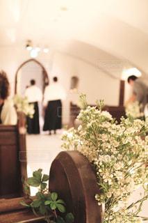 チャペルでの結婚式の写真・画像素材[1881598]