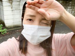 マスクした女性の写真・画像素材[3424835]