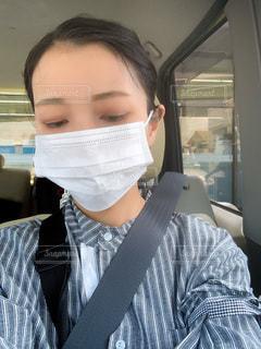 助手席で待つ女性の写真・画像素材[3447217]