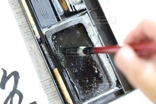 墨のついた筆の写真・画像素材[3536293]