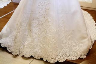 ドレスに美しいレースの模様の写真・画像素材[3563343]