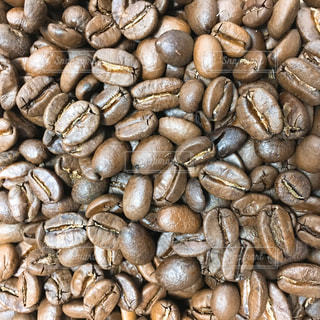 コーヒー豆のアップ写真の写真・画像素材[1820136]