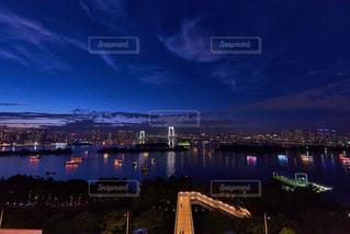 アクアシティから撮影したお台場の夜景の写真・画像素材[1819134]