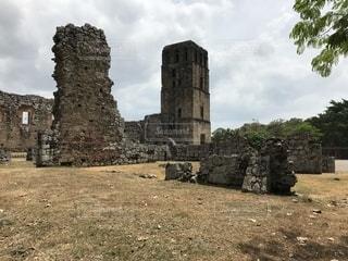 大規模な石造りの建物の写真・画像素材[1819916]