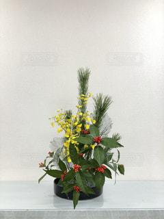 正月の生け花の写真・画像素材[1823521]