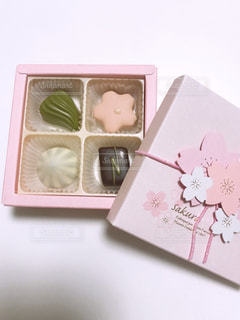 桜のチョコレートの写真・画像素材[1837817]