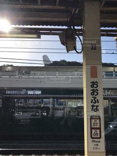 大船駅から見える大船観音の写真・画像素材[1828302]
