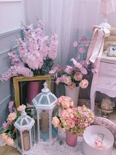 お花が沢山なお部屋の写真・画像素材[1830689]