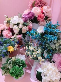 カラフルな花束の写真・画像素材[1830877]