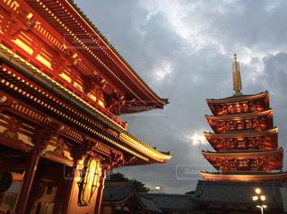 浅草寺の五重塔の写真・画像素材[1831872]