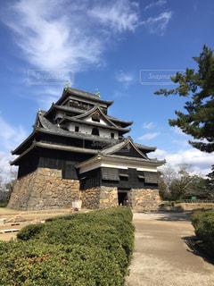 石造りの建物の上に城の写真・画像素材[1836531]