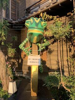 川越 小江戸 カエルと五円玉のオブジェの写真・画像素材[1843524]