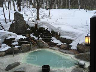 理想の雪見風呂の写真・画像素材[1835793]