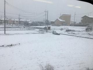 関東の雪景色の写真・画像素材[1839636]