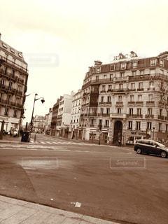 街の通りの古い写真の写真・画像素材[1849807]