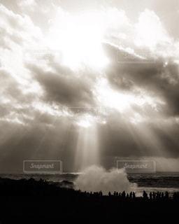 空からの波の写真・画像素材[1849112]