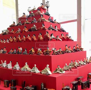 お雛様飾りピラミッドの写真・画像素材[1842429]