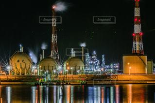 北海道苫小牧の工場夜景の写真・画像素材[1852966]