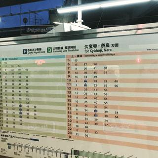 新大阪駅の時刻表の写真・画像素材[1847749]