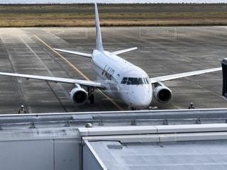 奄美空港の飛行機の写真・画像素材[1862190]