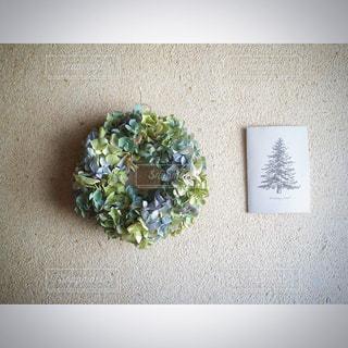 紫陽花のドライフラワーリースの写真・画像素材[1845028]