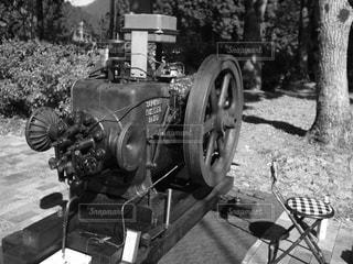 昔の発電機の写真・画像素材[1846378]