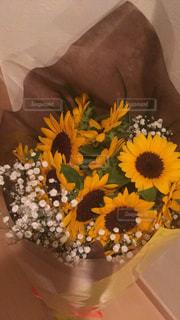 大きな向日葵の花束の写真・画像素材[2447313]