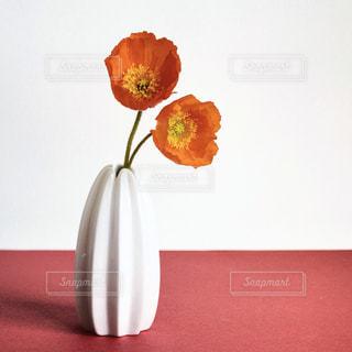 テーブルの上に座って花の花瓶の写真・画像素材[1874286]