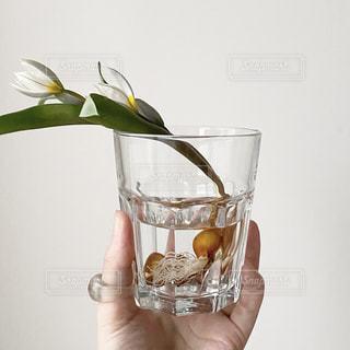 ワインを一杯飲んだ花で満たされた花瓶の写真・画像素材[2901079]