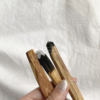 木製のベンチの写真・画像素材[3689884]