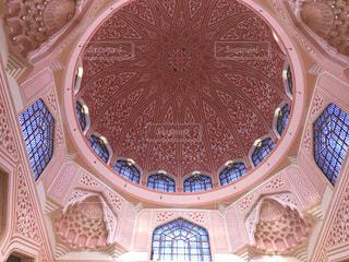 ピンクモスクの天井模様の写真・画像素材[1852229]