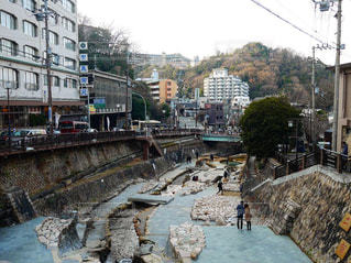 都市を流れる川の写真・画像素材[1852425]