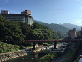 箱根湯本の川の写真・画像素材[720070]
