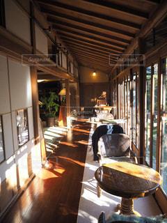 縁側カフェ昭和の家 の縁側席。(東京)の写真・画像素材[1069871]