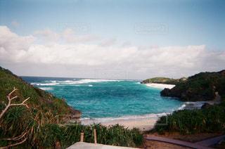 与論島の青い海の写真・画像素材[1076373]