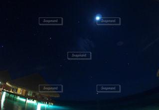 モルディブの星空の写真・画像素材[1857805]