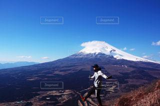 富士山をバックに空中散歩の写真・画像素材[1867107]