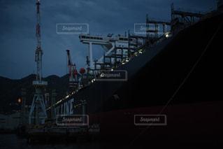 建造中の貨物船の写真・画像素材[1864856]